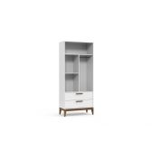 Guarda Roupa Nature Glass 2 Portas - Matic - Branco Soft